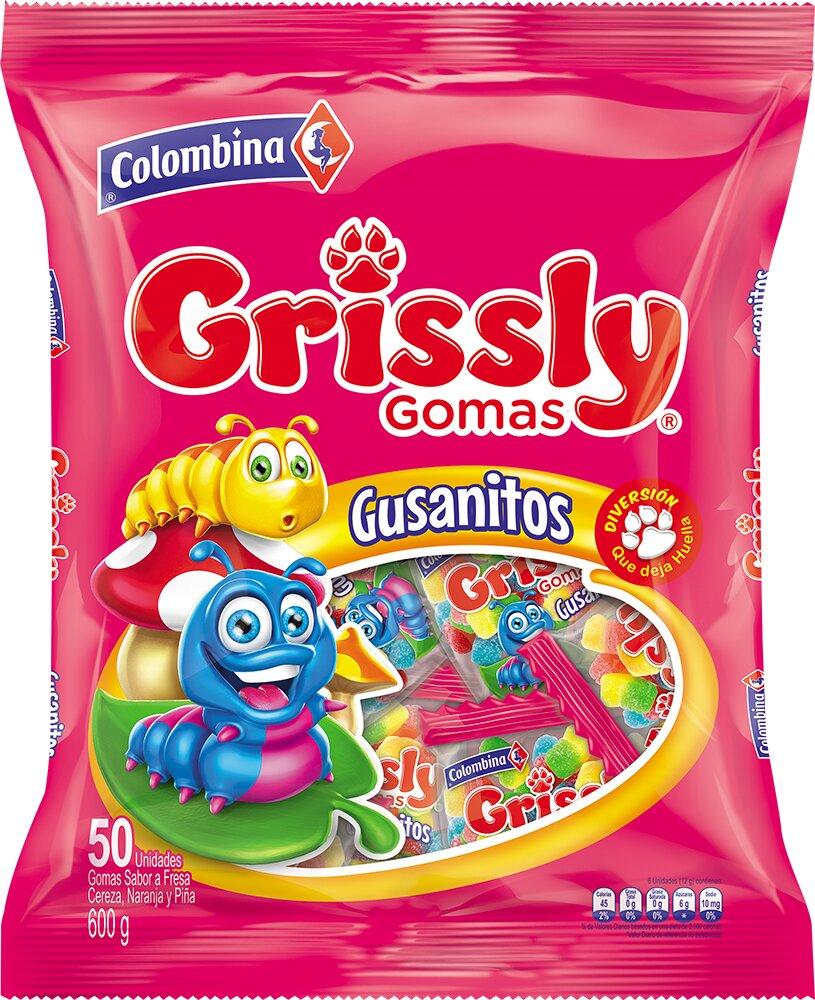 Gomas Grissly Gusanito X50u 600g