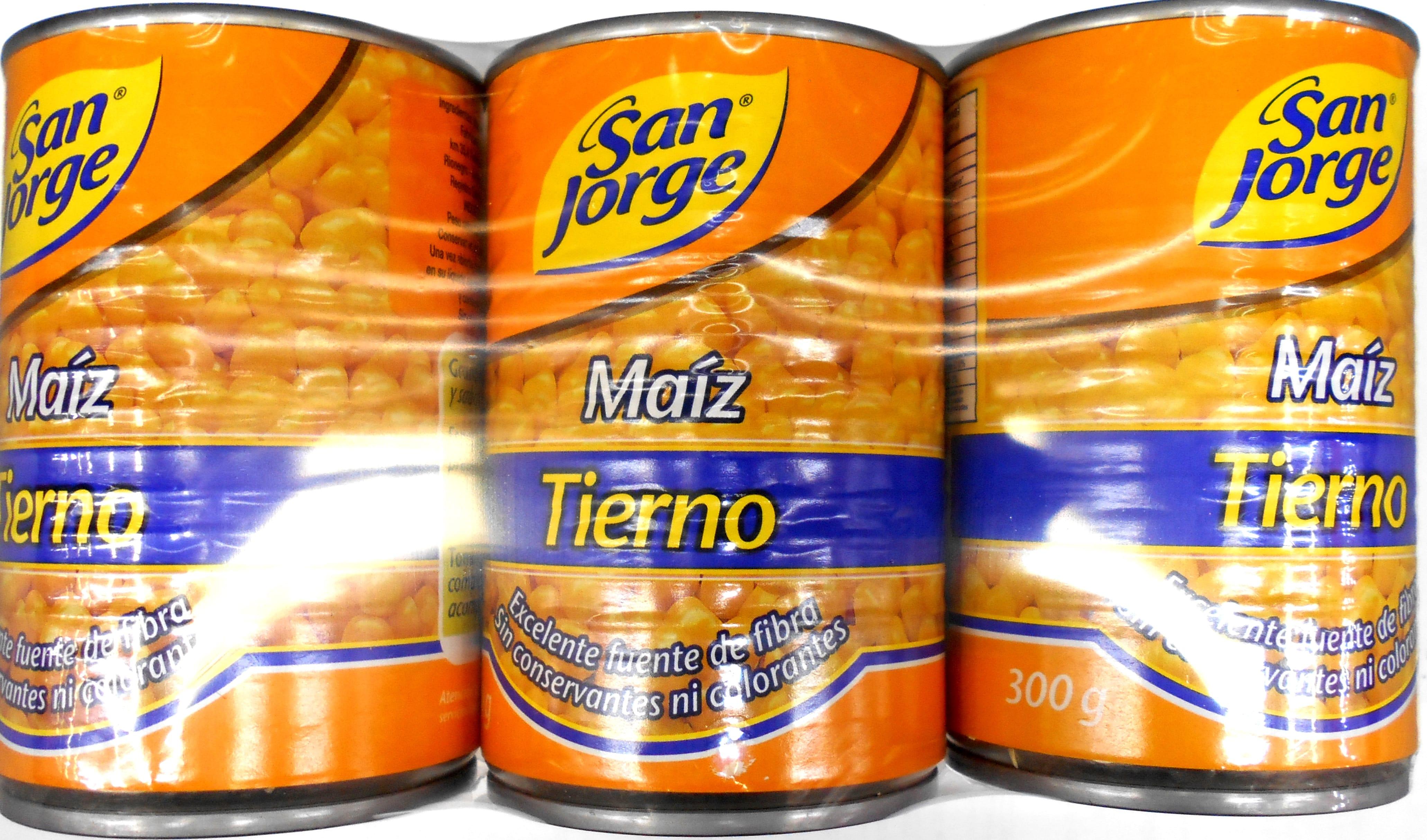 Maiz Tierno san Jorge 300g x3