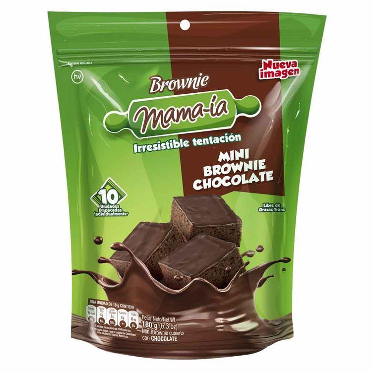 Brownie Mini Mamaia Chocolate x10 180g