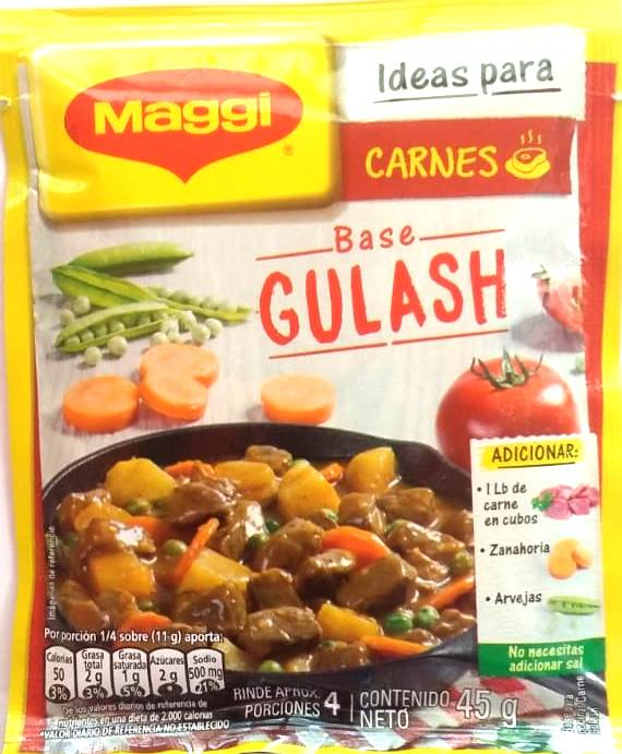 Base Ideal Para Carnes Gulash Maggi 45g
