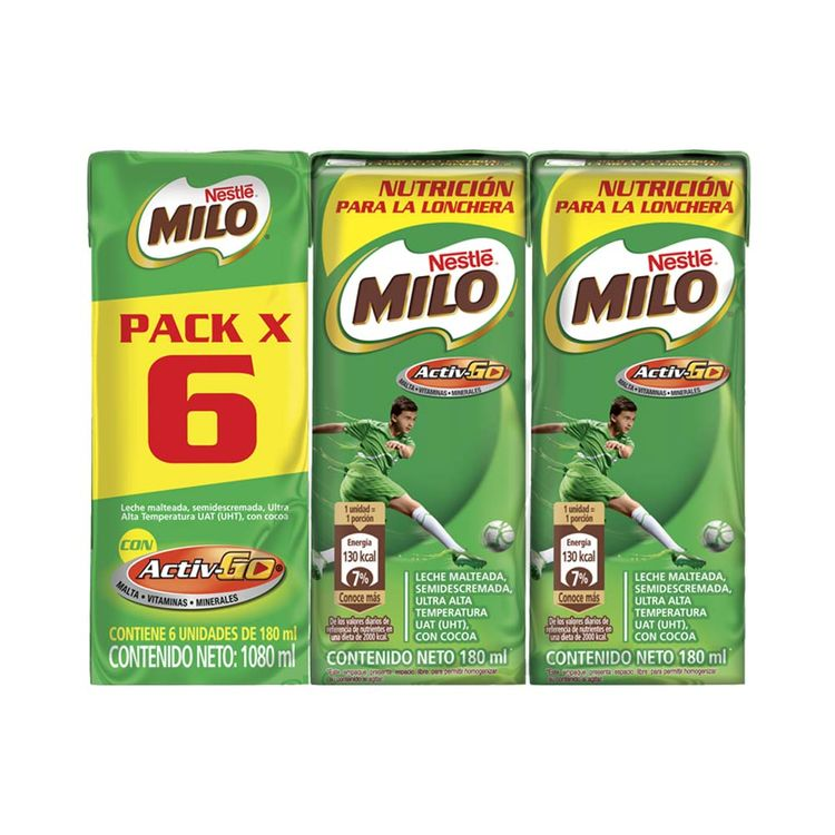 Leche Achocolatada Milo Tetra Pack 180mlx6