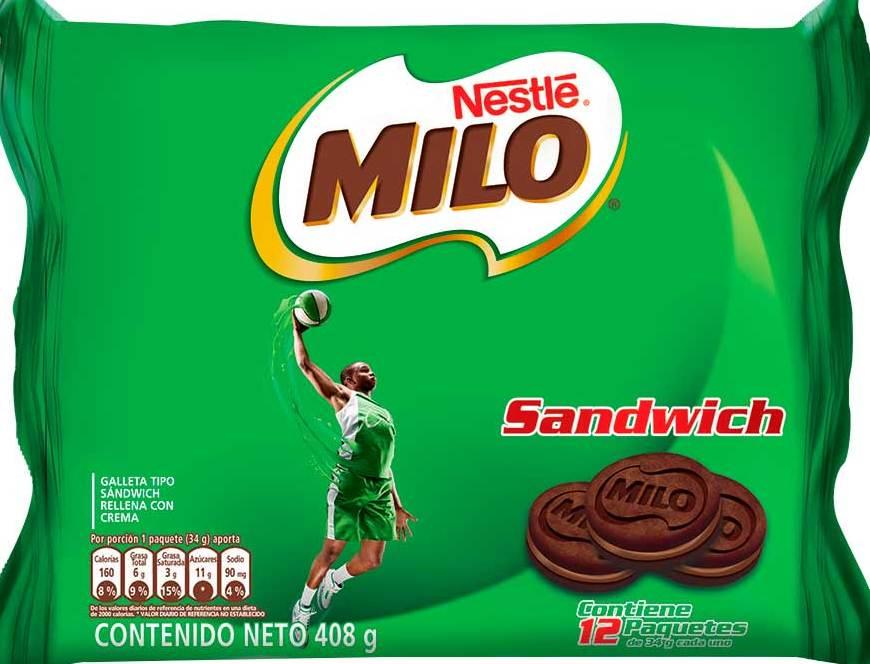 Galletas Milo Sandwich 34g X12u