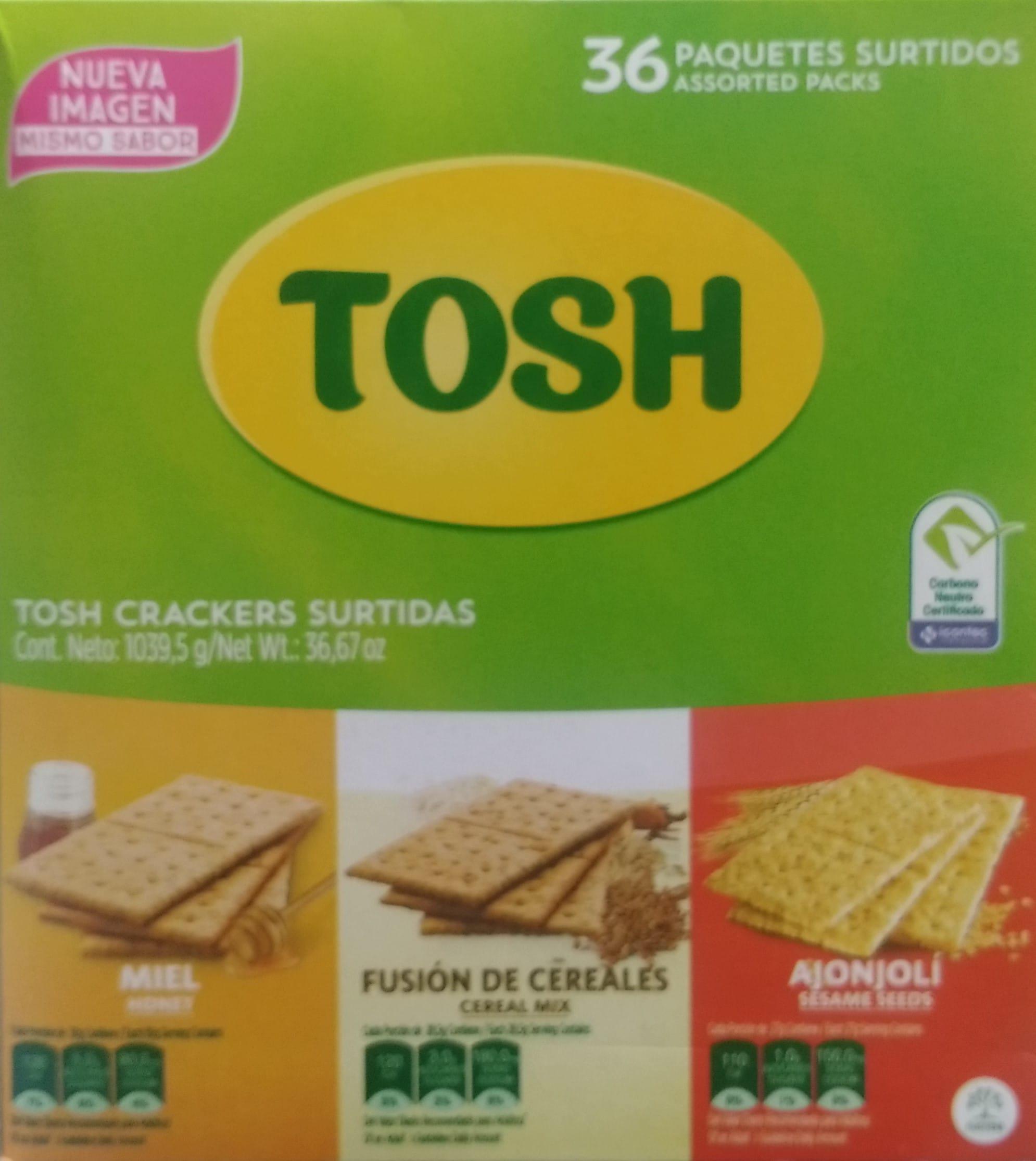Galletas Tosh Crackers Surtidas x 36 1039 5g