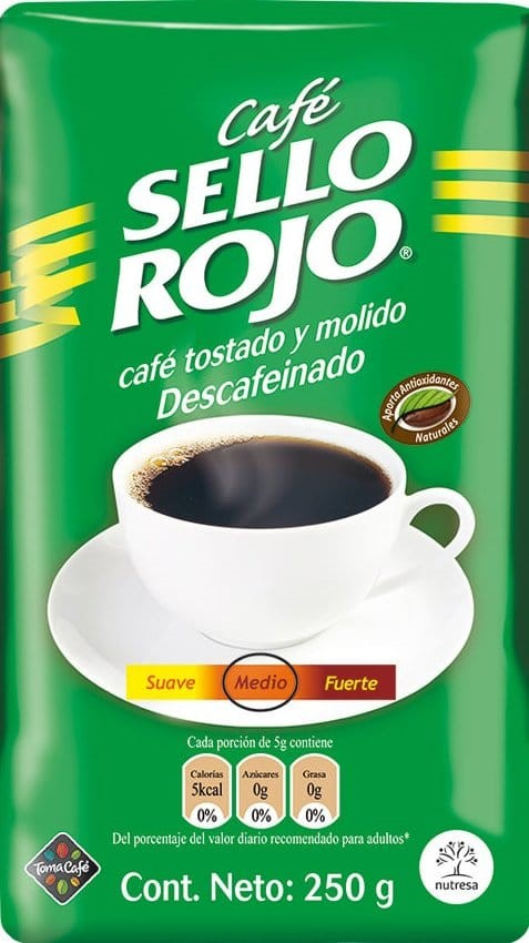Cafe Sello Rojo Descafeinado 250g x3