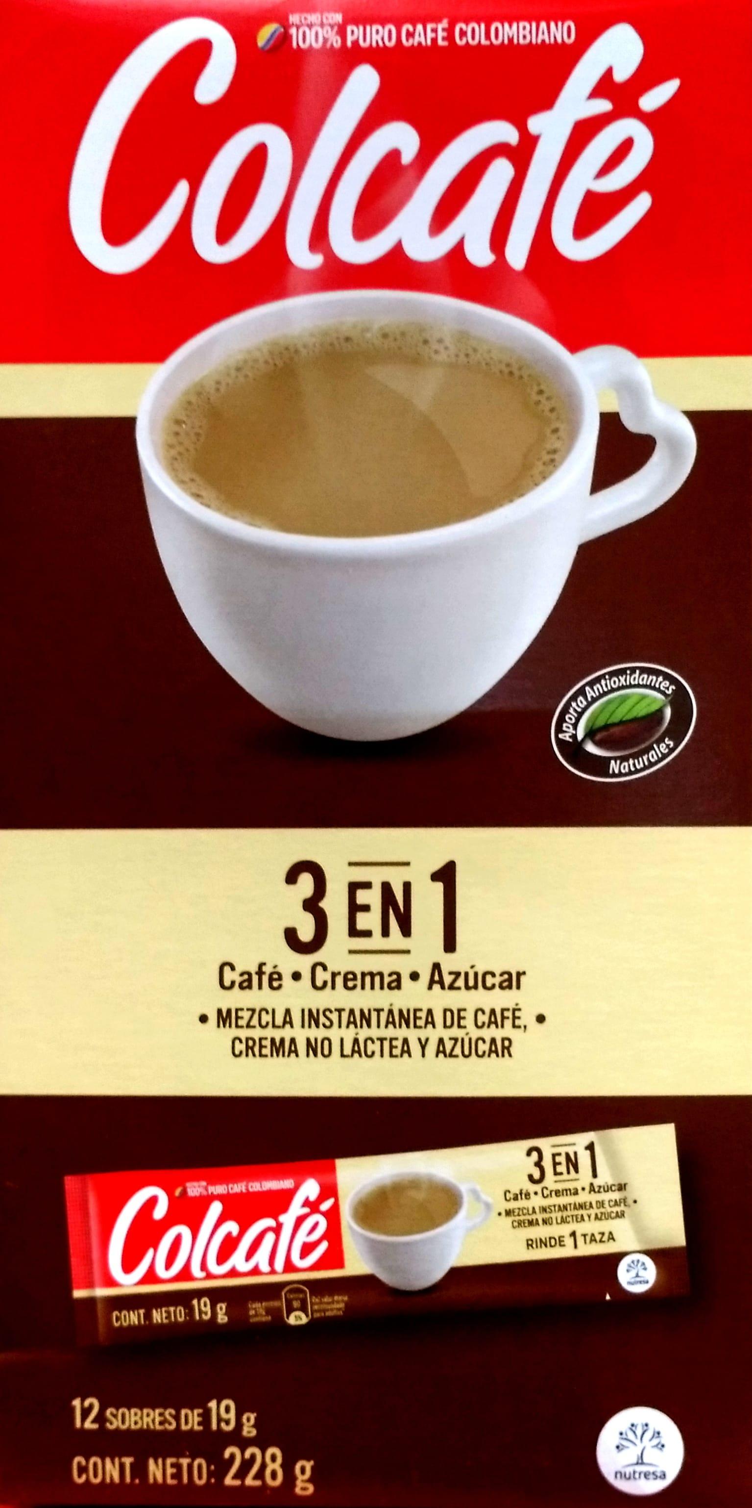 Café Instantaneo Colcafe 3en1 X12u 228g