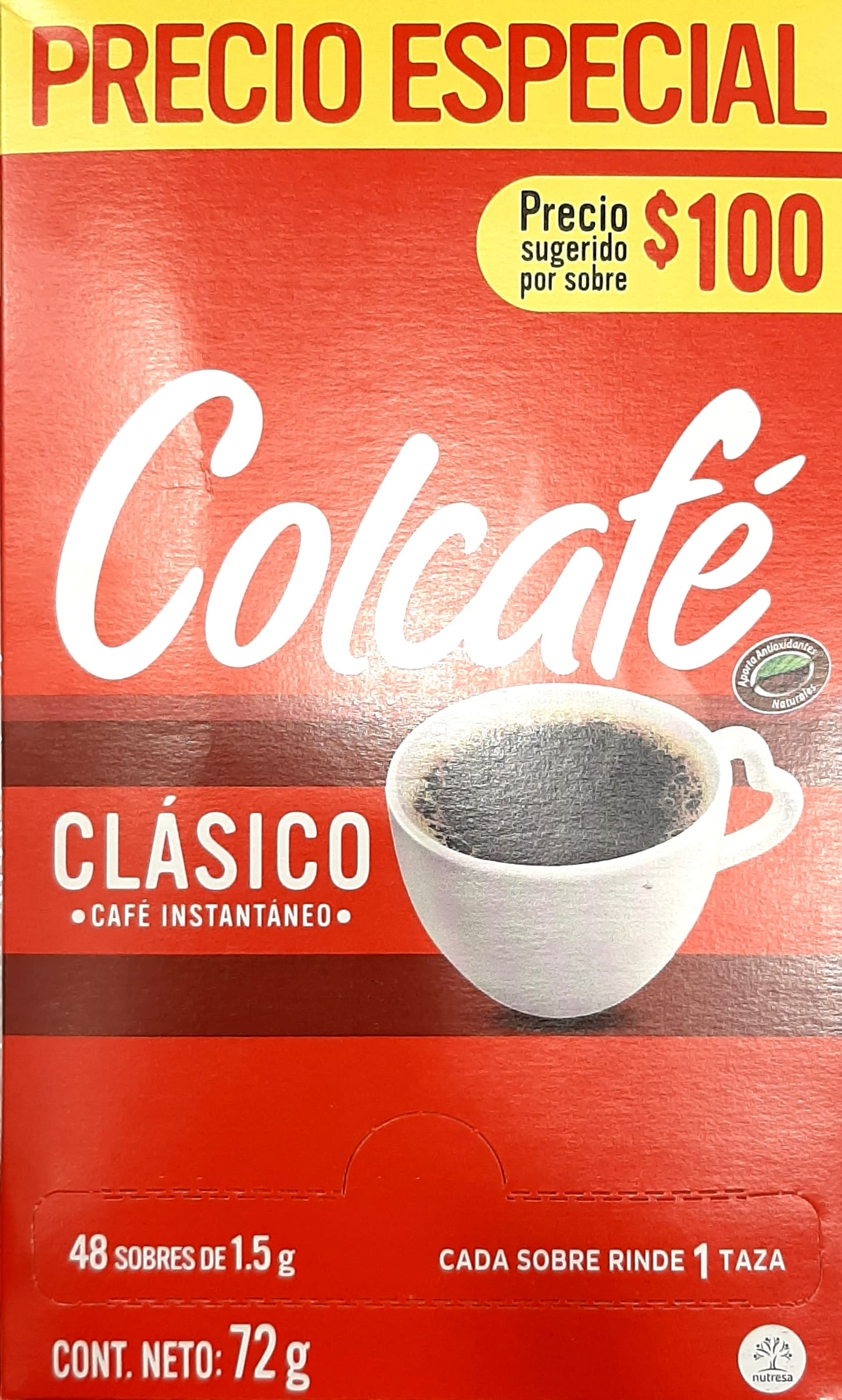 Cafe Instantaneo Colcafe Clásico x48 72gpe
