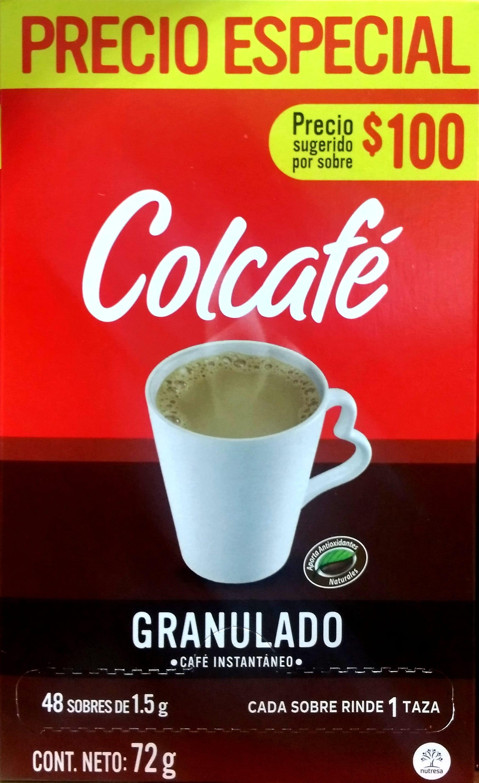 Café Instantaneo Colcafe Granulado x48 72gpe