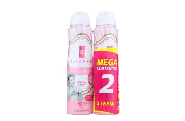 Desodorante Aerosol Elizabeth Arden Clinical 165mlx2