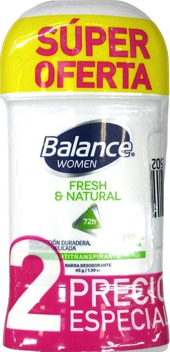 Desodorante Barra Balance Fresh Natural Women 90g