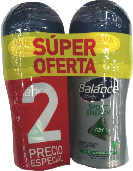Desodorante Roll on Balance Sport men 50mlx2pe
