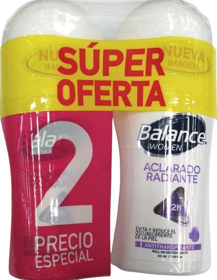 Desodorante Roll on Balance Aclarado Women 50mlx2pe