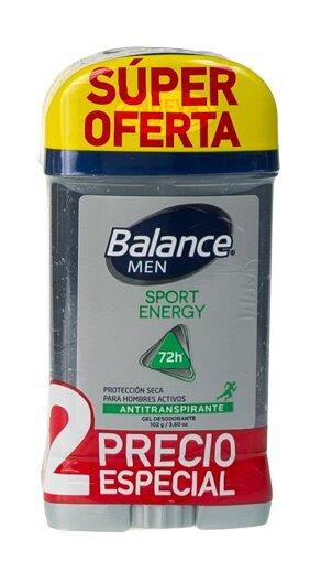 Desodorante gel Balance Sport Energy 102gx2 pe