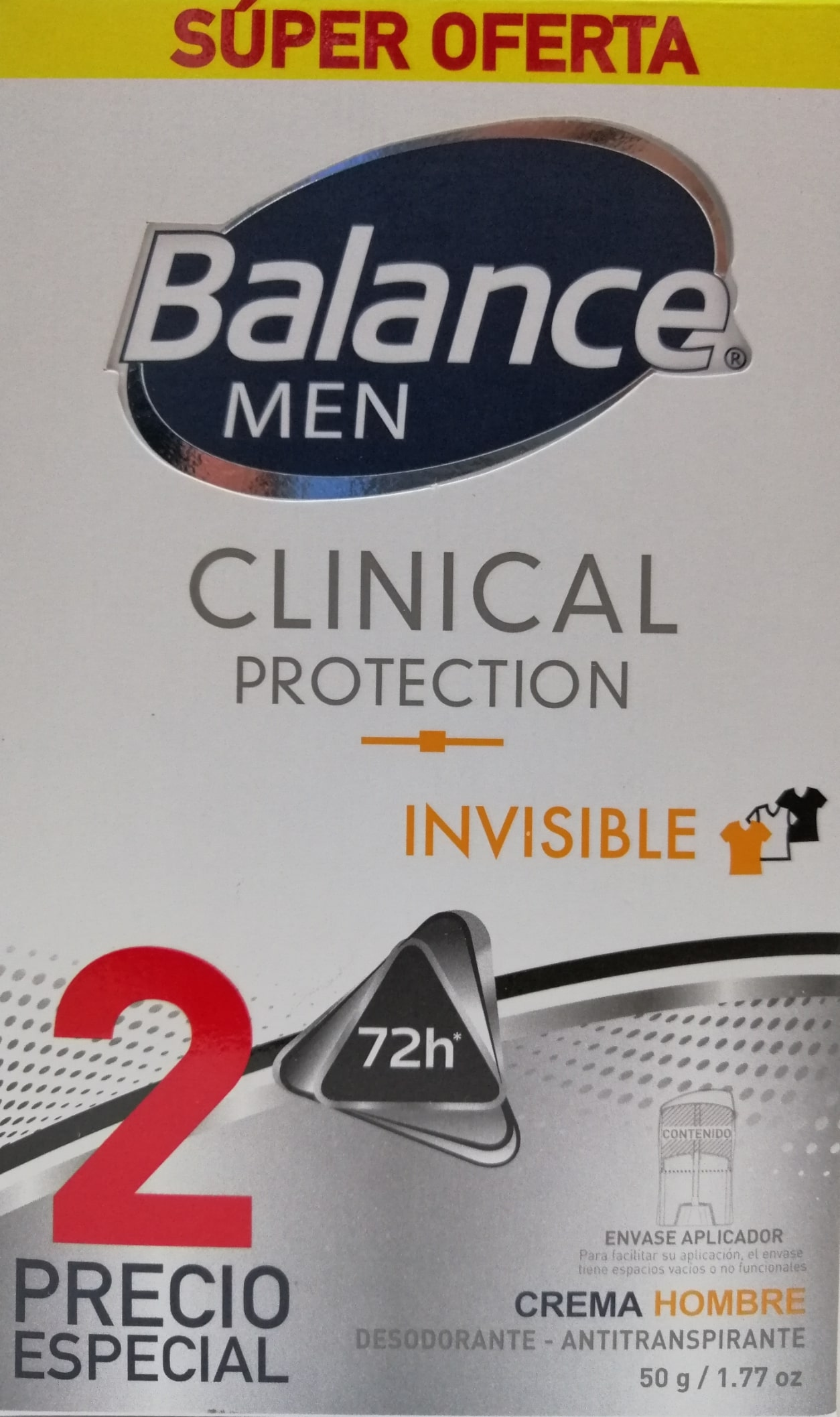 Desodorante Barra Balance Clinical men 50gx2