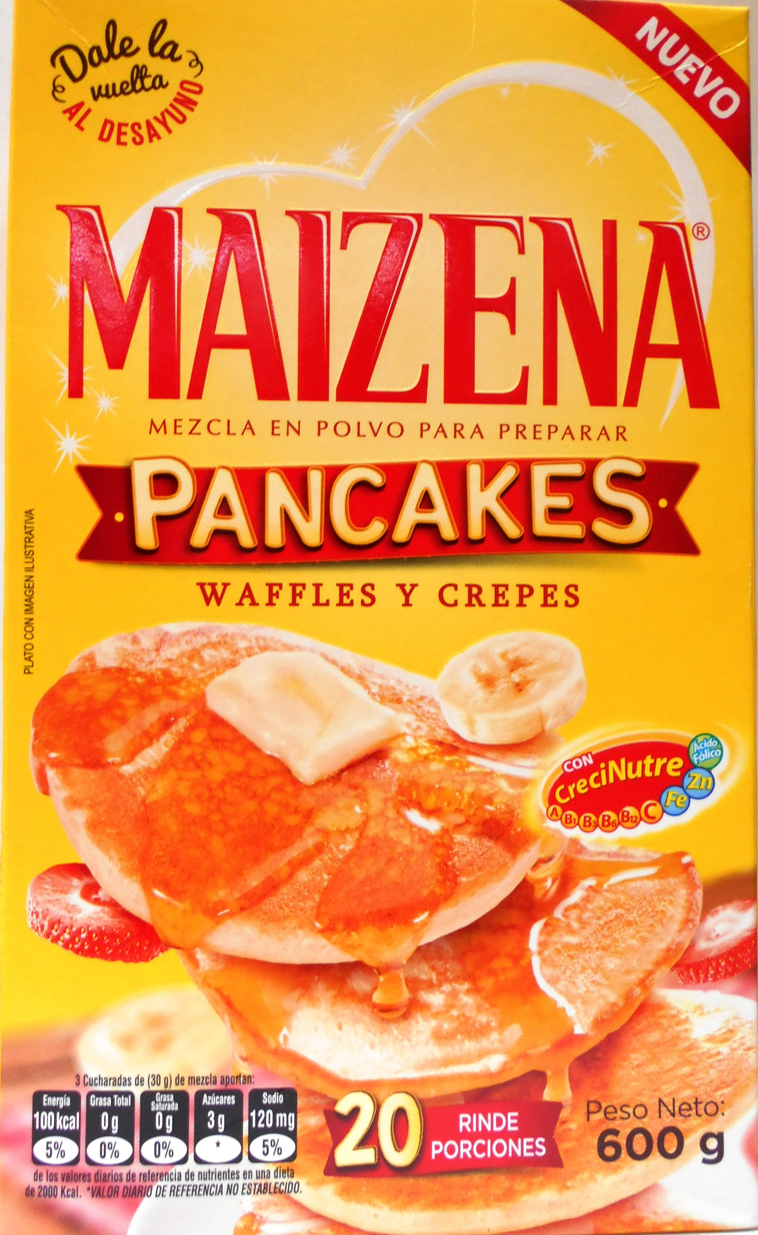 Mezcla Pancakes Maizena 600g