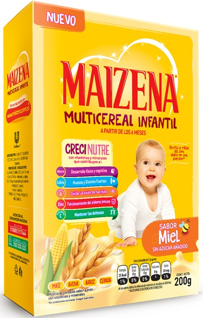 Multicereal Maizena Miel 200g