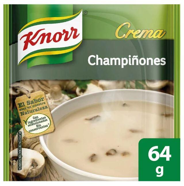 Crema Knorr Champiñones 64g