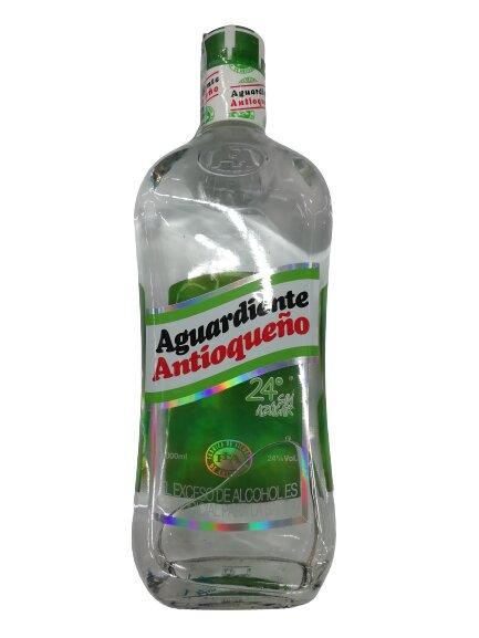 Aguardiente Antioqueño Verde sin Azucar 1000ml