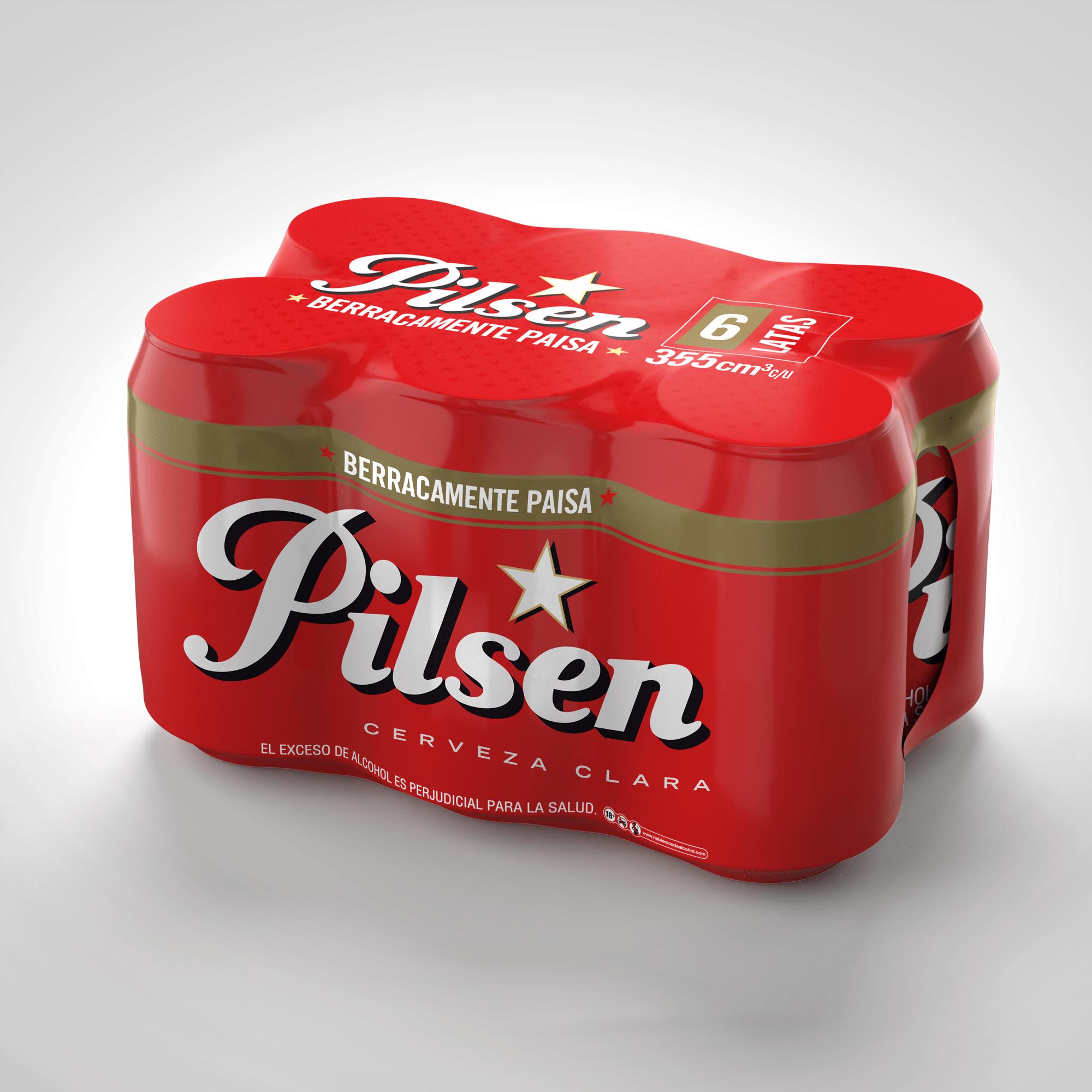 Cerveza Pilsen Lata 355ml x6u