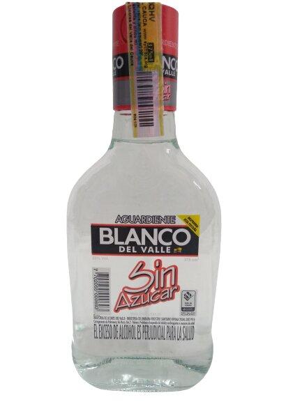 Aguardiente Blanco Valle sin Azucar 375
