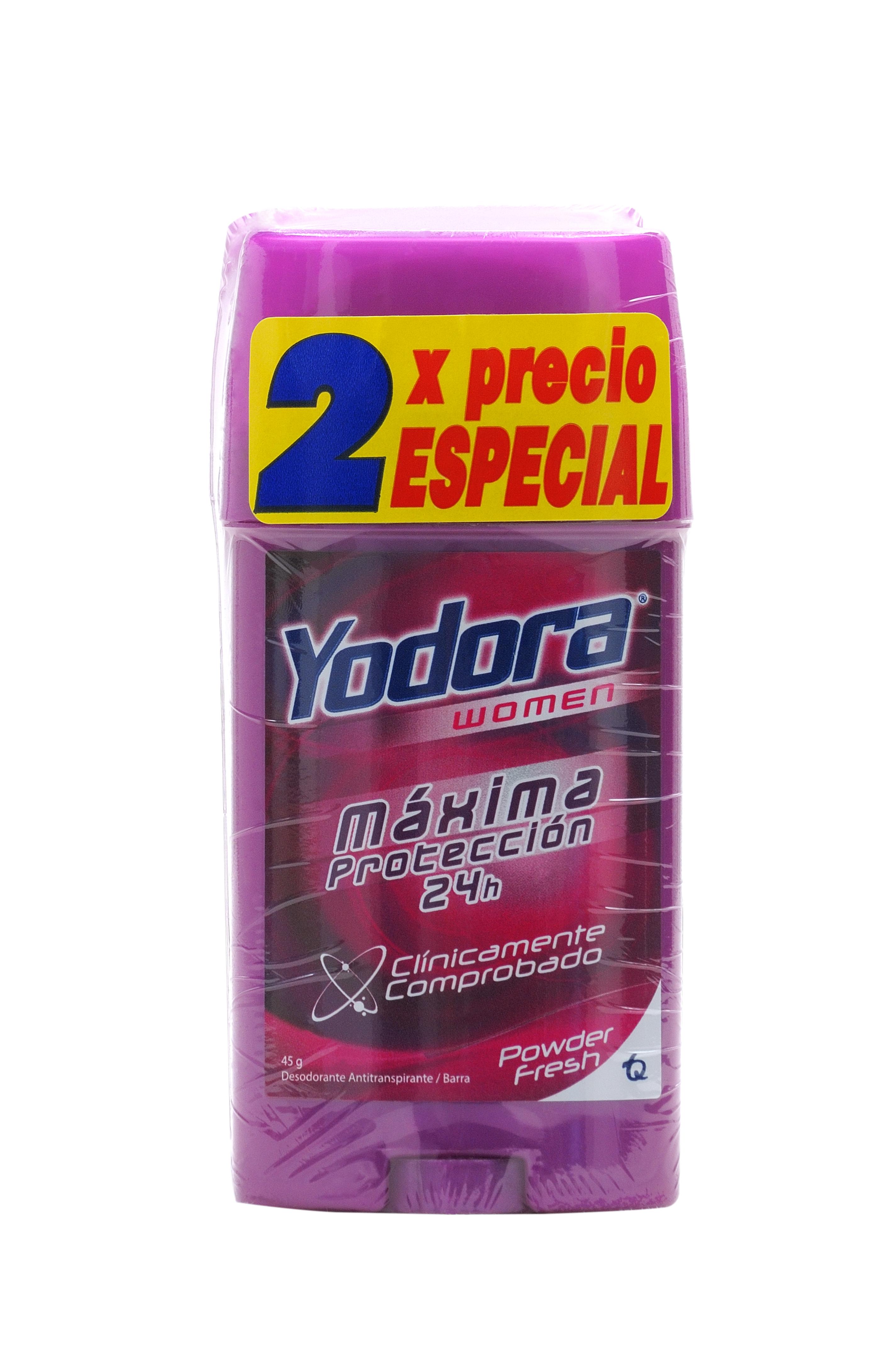 Desodorante Yodora Barra Powder Fresh 2x50gpe