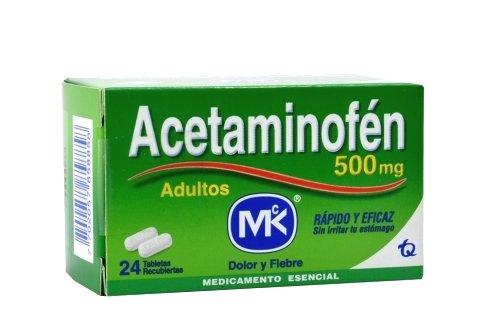 Acetaminofen mk Adulto 500mgx24