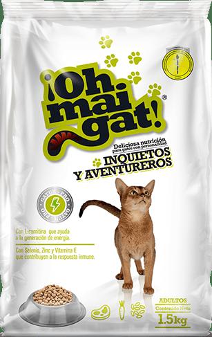Alimento Ohmaigat Gatos Inquietos y Aventureros 1 5k