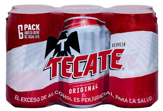 Cerveza Tecate 355ml x6u