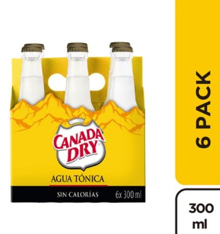 Agua Tonica Canada dry 300mlx6