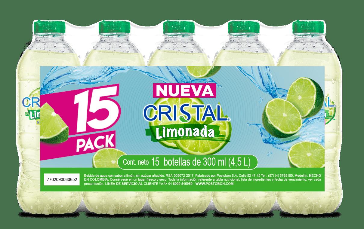 Agua Cristal Limonada 300mlx15