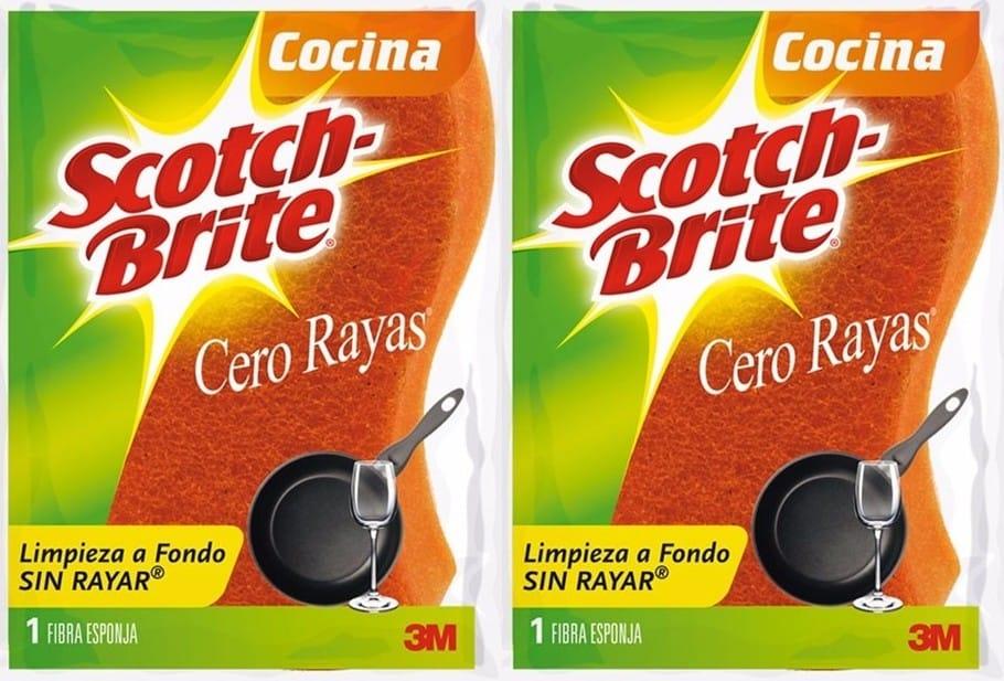 Esponja Scotch Brite Cero Rayas Cocina x6