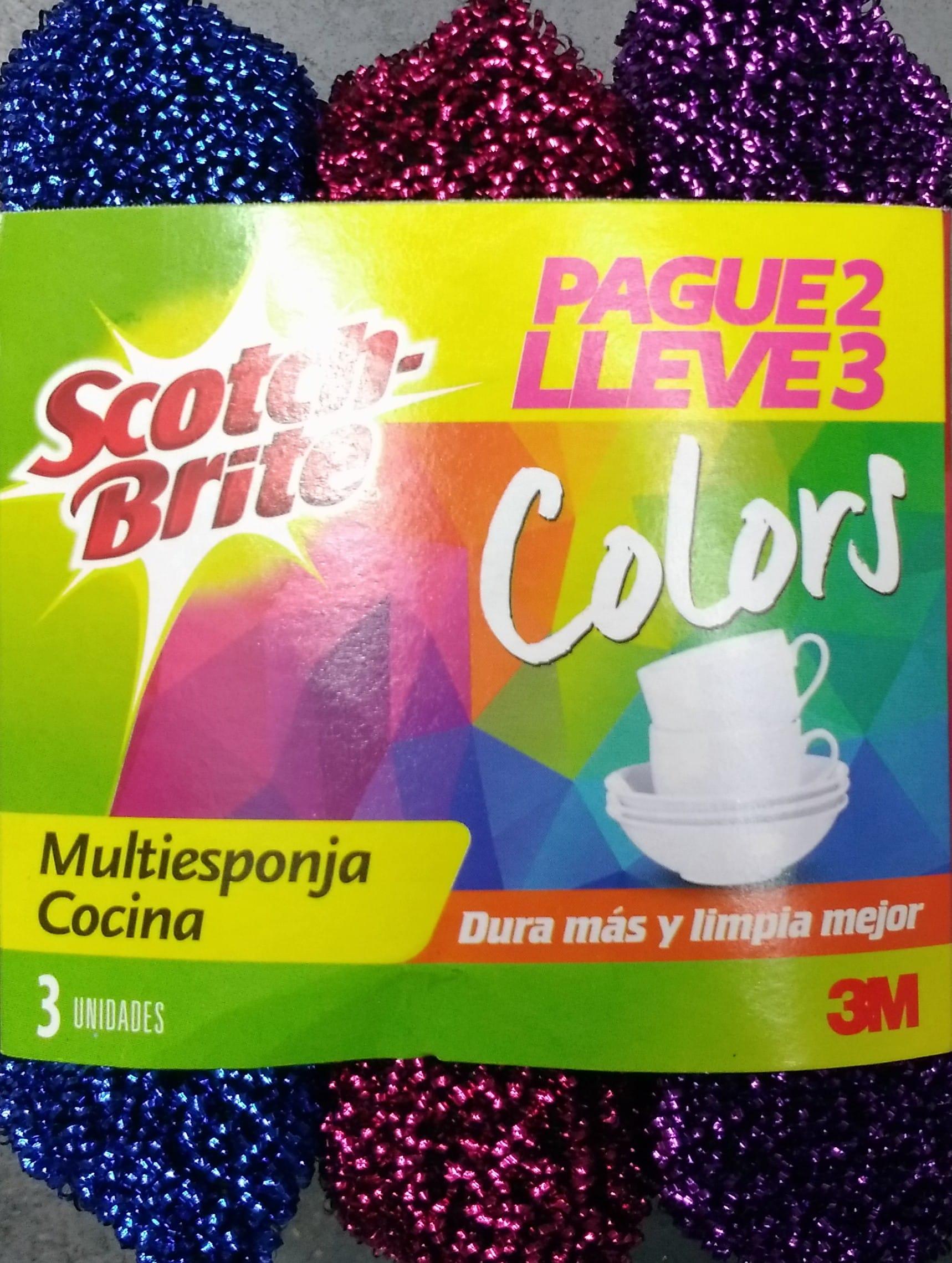 Esponja Cocina Scotch Brite Colors P2l3
