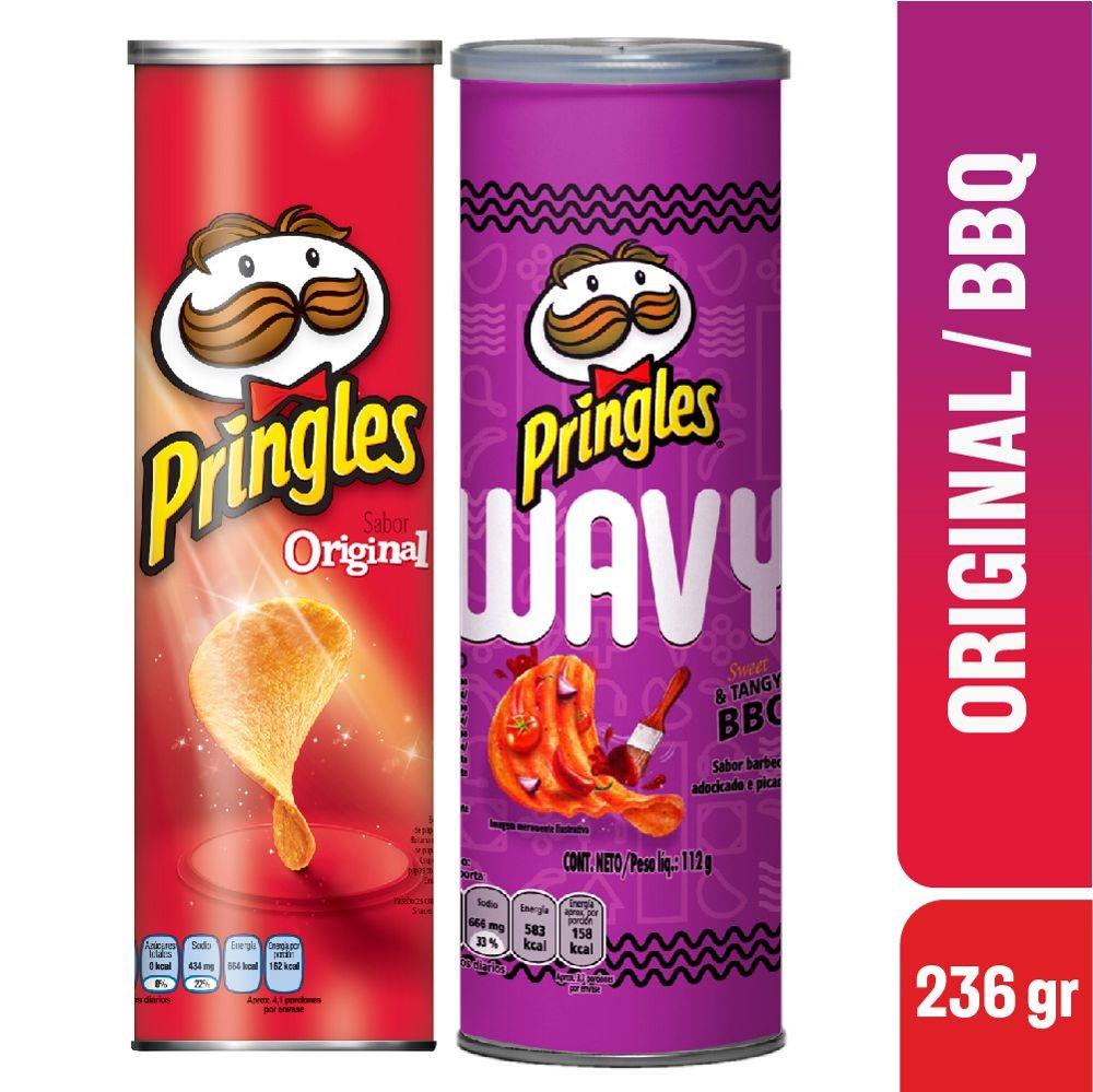 Papas Pringles Original bbq x2 248g