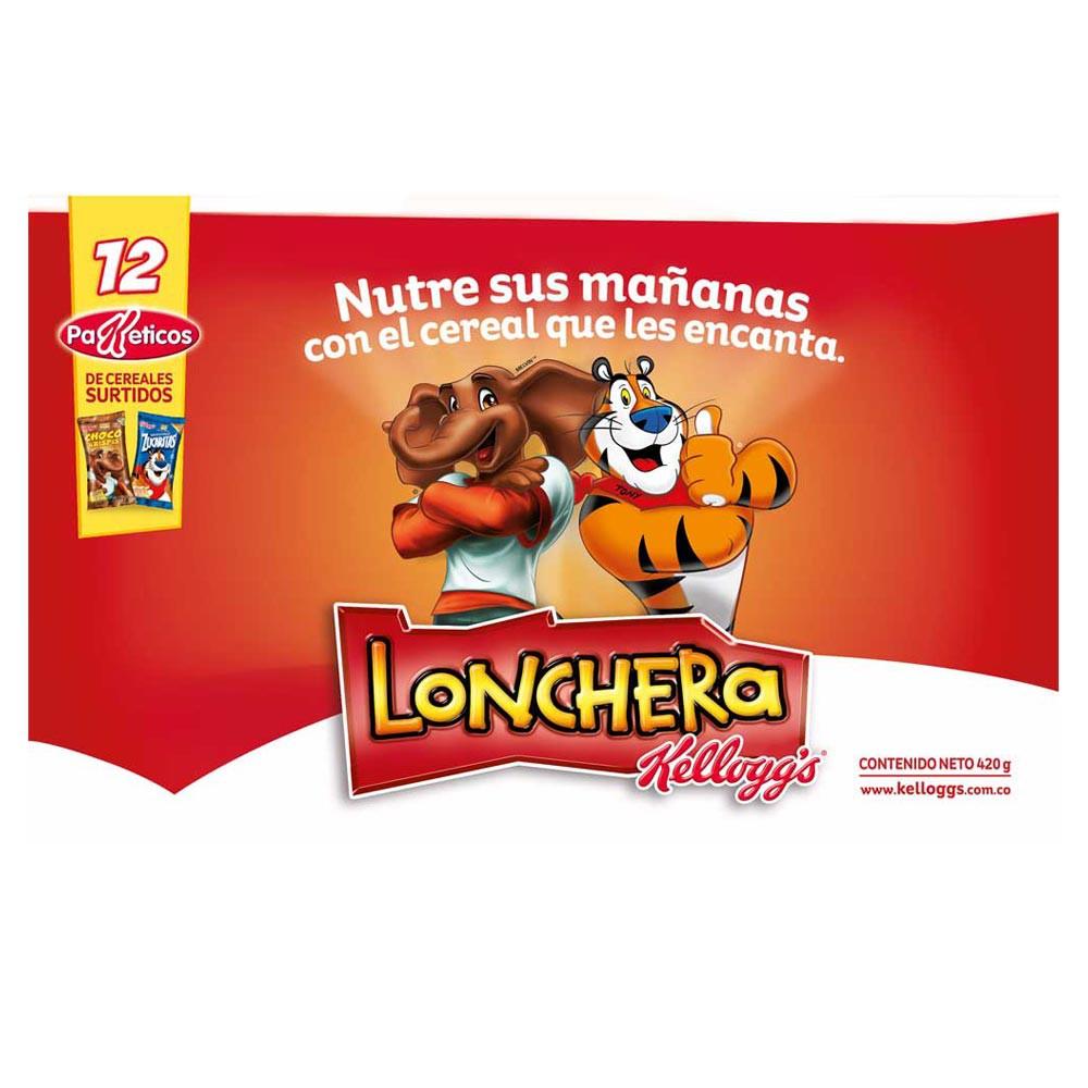 Lonchera Kelloggs 12 Paketicos 372g