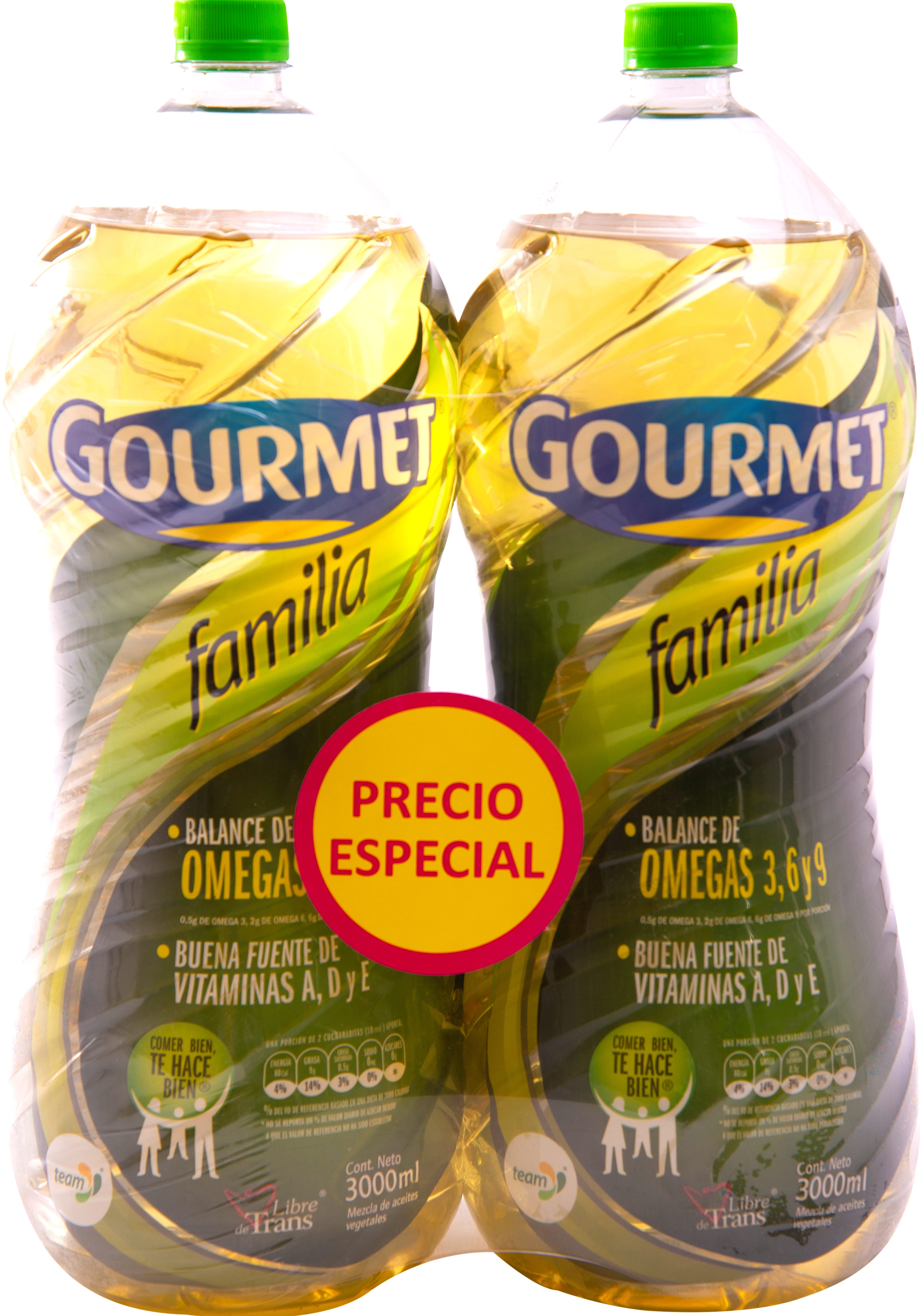 Aceite Gourmet 3l x2