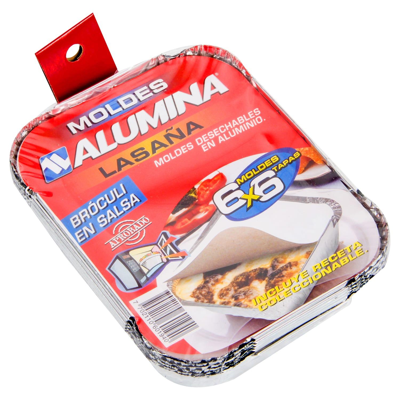 Molde Alumina Lasaña Tapa x6