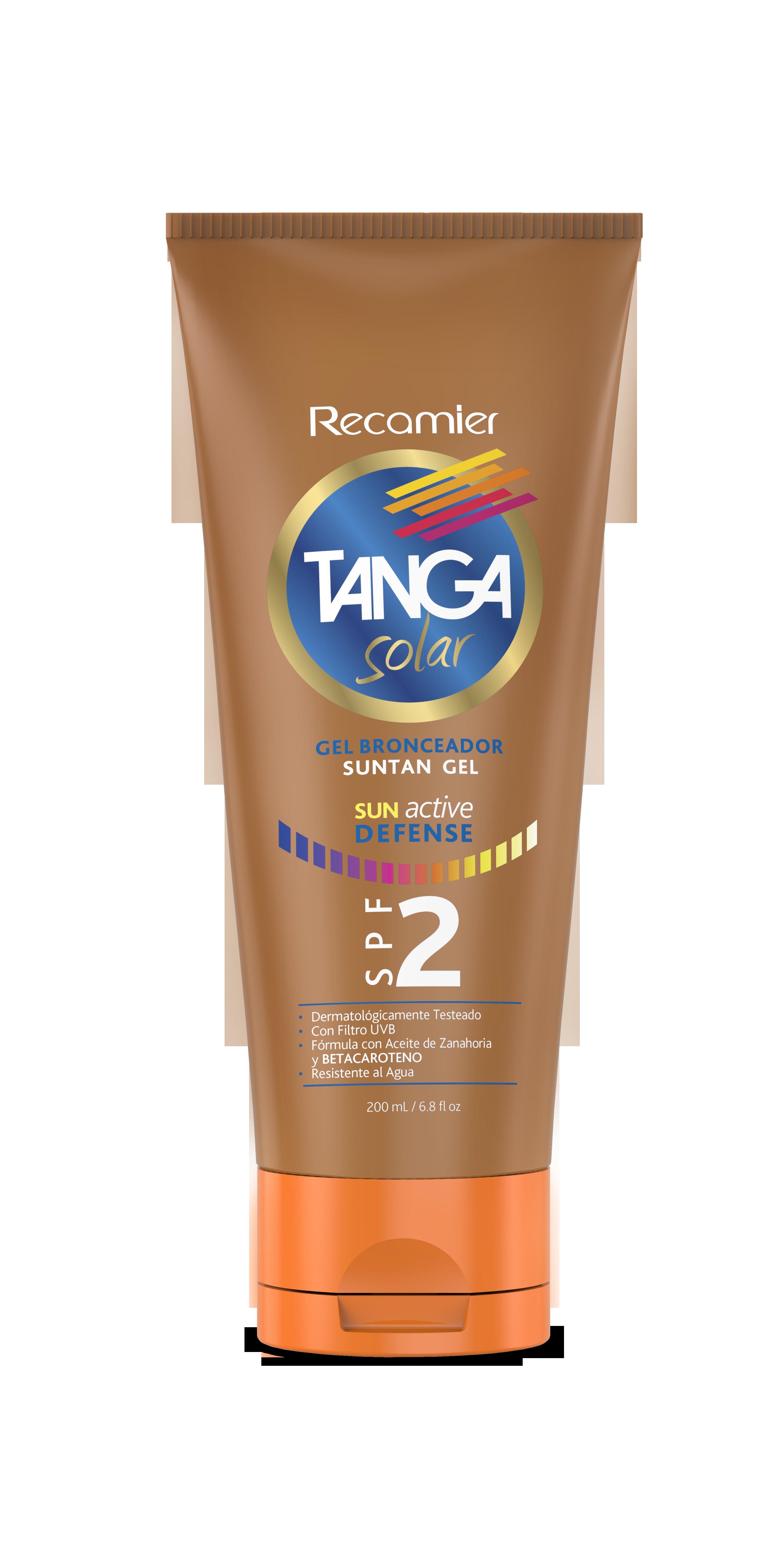 Bronceador gel Tanga spf 2 200ml