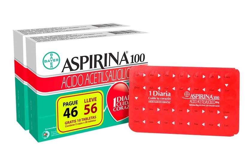 Aspirin 100 Acido Acetilsalicilico Tabletas P46l56