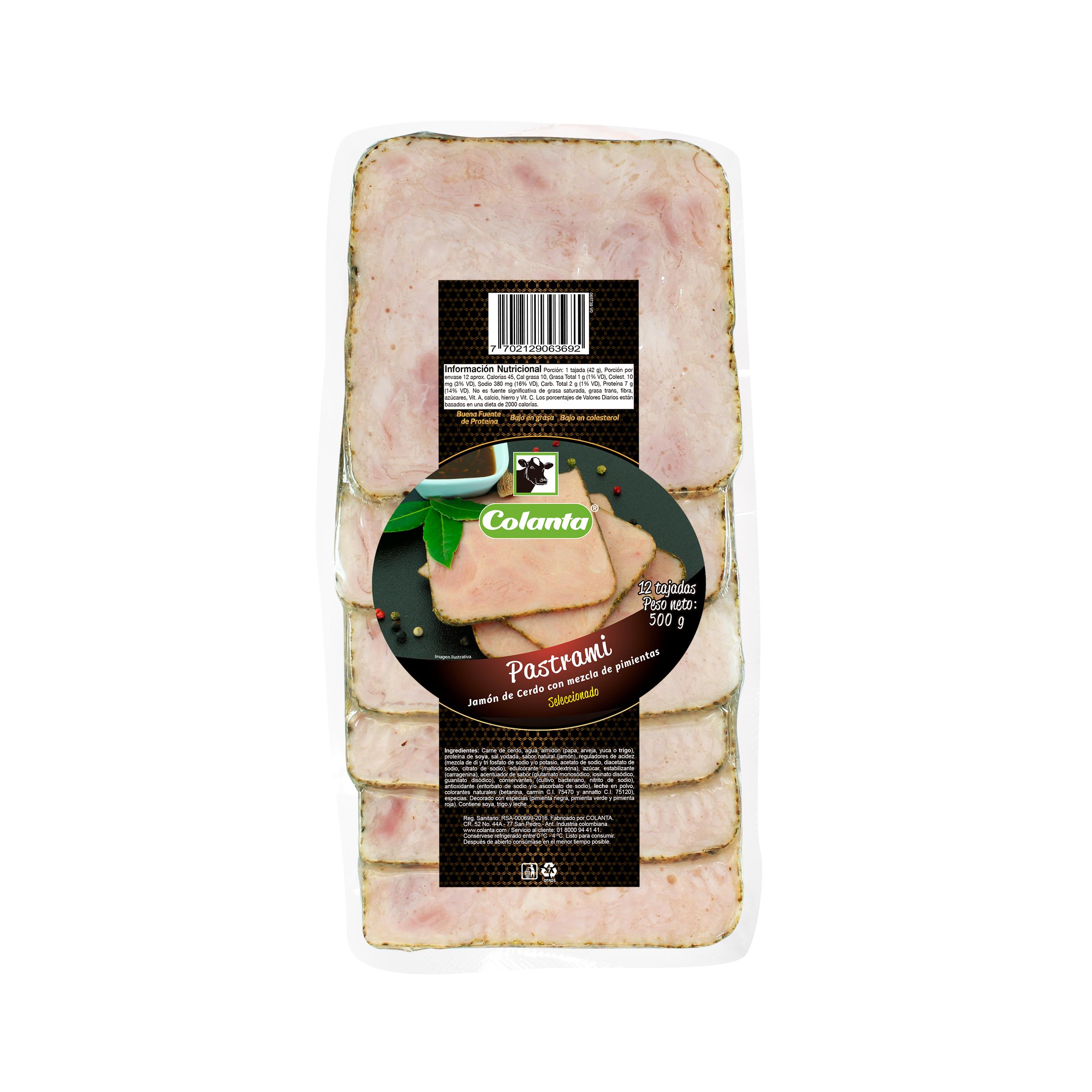 Pastrami de Cerdo Colanta 500g