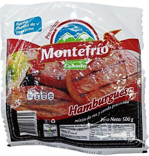 Hamburguesa Montefrio 100g x5u
