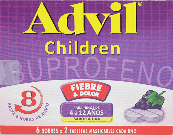 Advil Children Masticables uva X12tab
