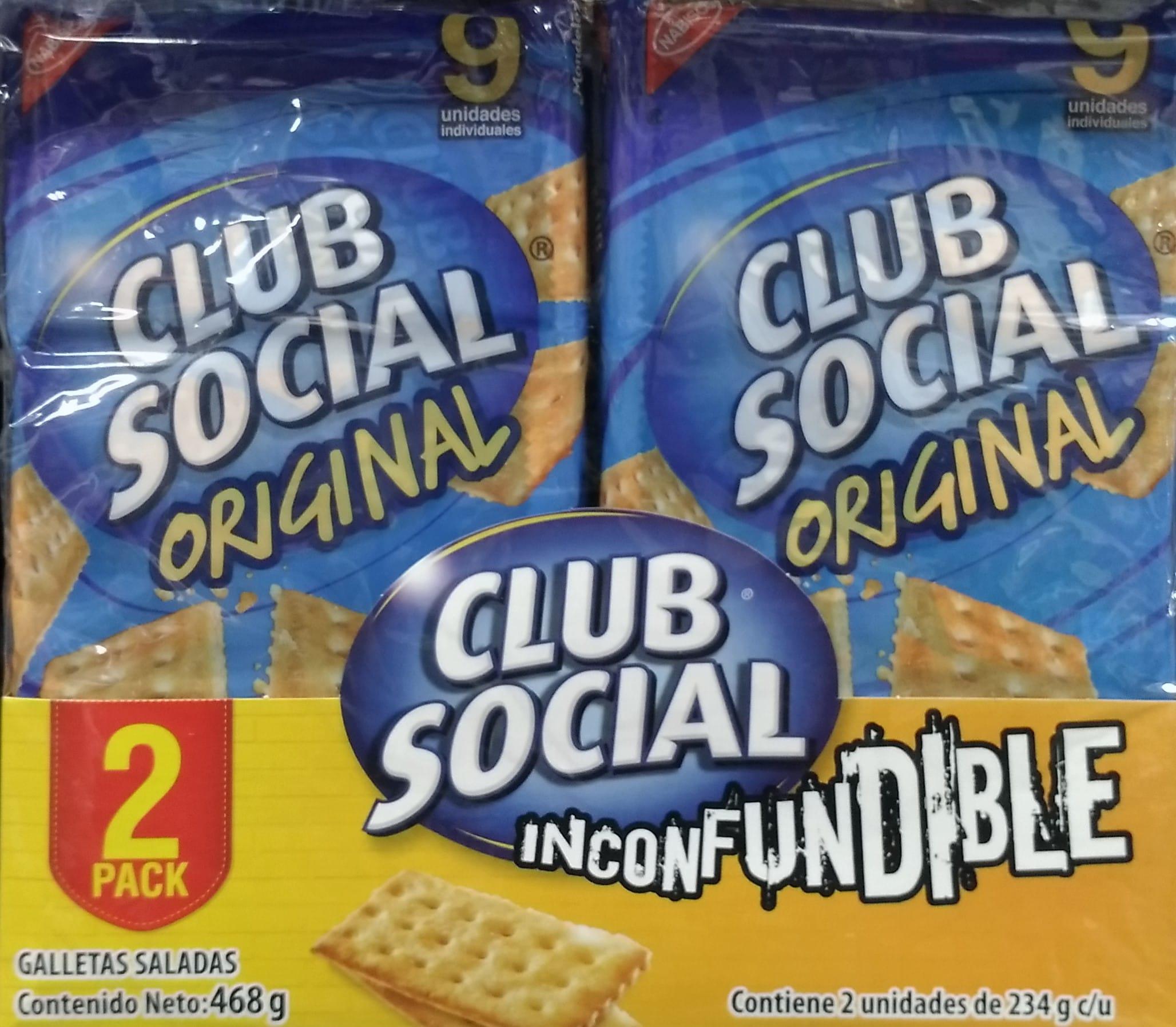 Galletas Club Social Original 26gx18 pe