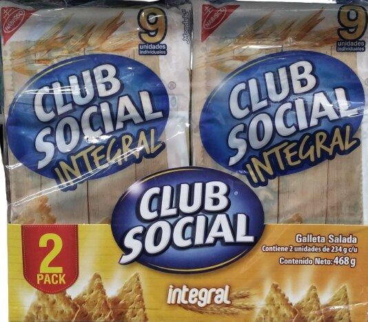 Galletas Club Social Integral 26gx18pe