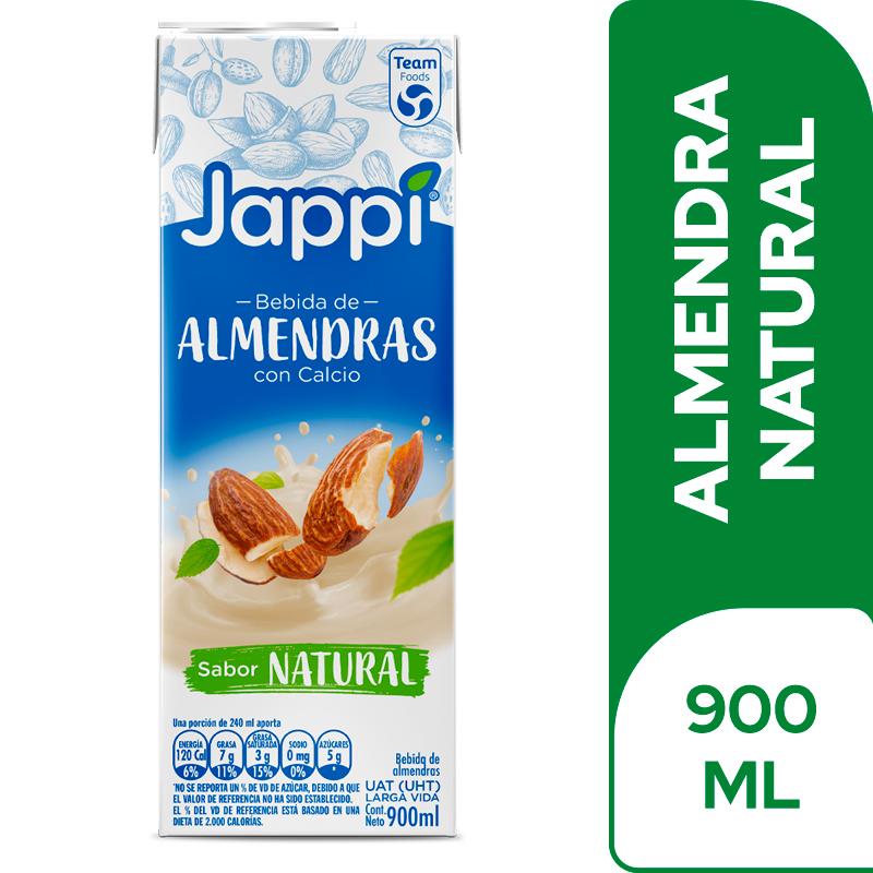 Bebida Almendras Jappi Natural Tetra Pack 900ml