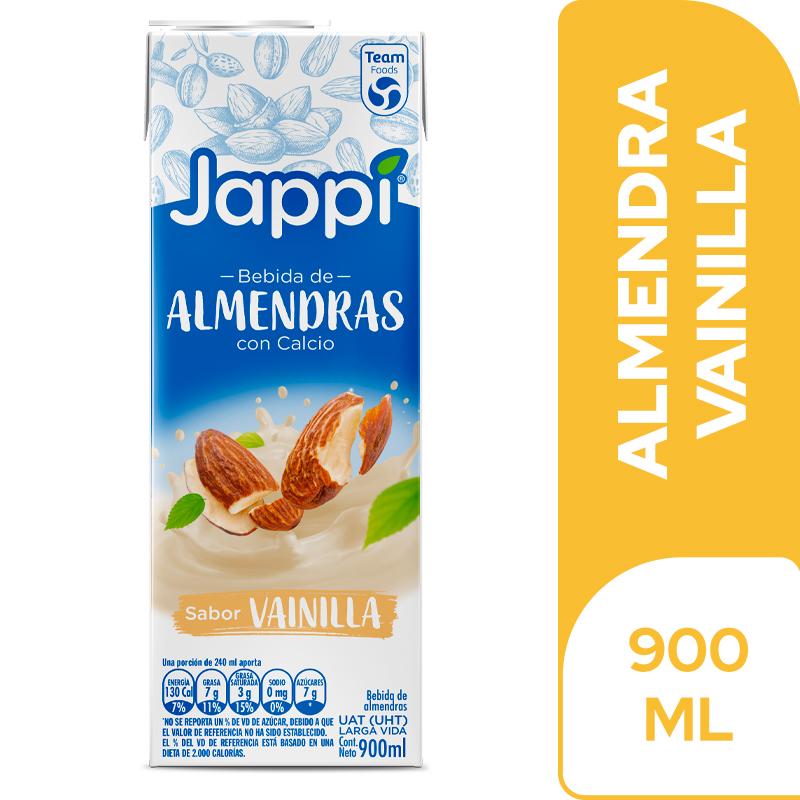 Bebida Almendras Jappi Vainilla Tetra Pack 900ml