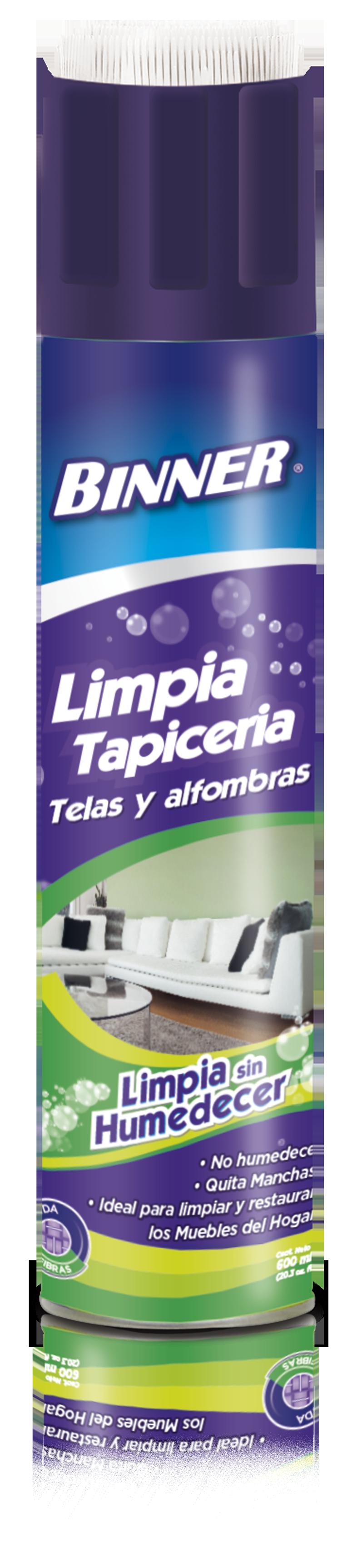 Limpia Tapiceria Telas y Alfombras Binner X600ml