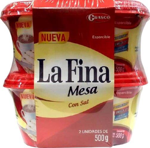 Esparcible Lafina Mesa con sal 500gx2