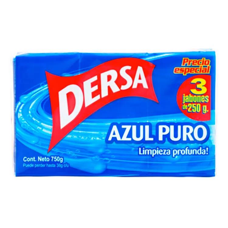 Jabón Lavar Dersa Azul 250gx3pe