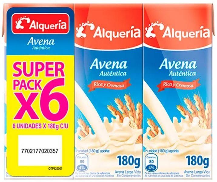 Avena Alqueria Autententica Tetra Pack 180gx6