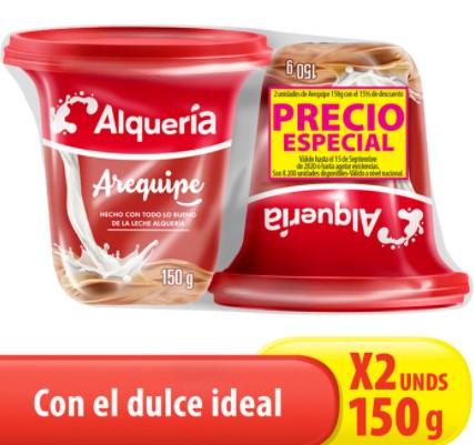 Arequipe Alqueria Vaso 150g x2 pe
