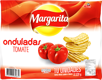 Papas Margarita Onduladas Tomate 32g x10